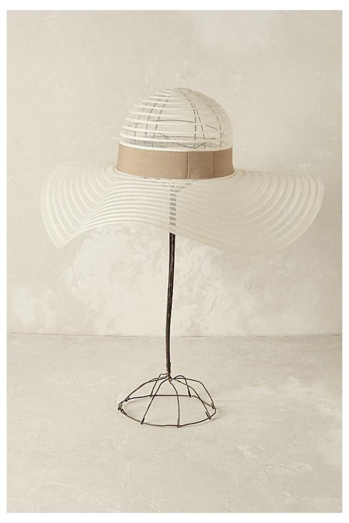 Riviera Sheer Floppy Hat - White