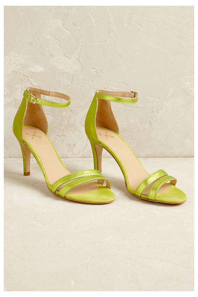 Viktoria Metallic Heels - Lime, Size 37