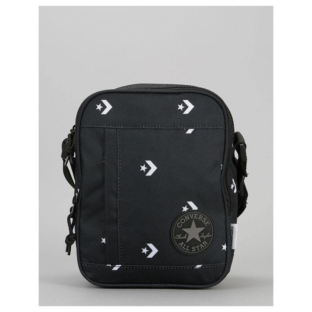 Converse Cross Body Bag - Star Chevron Repeat Black (One Size Only)