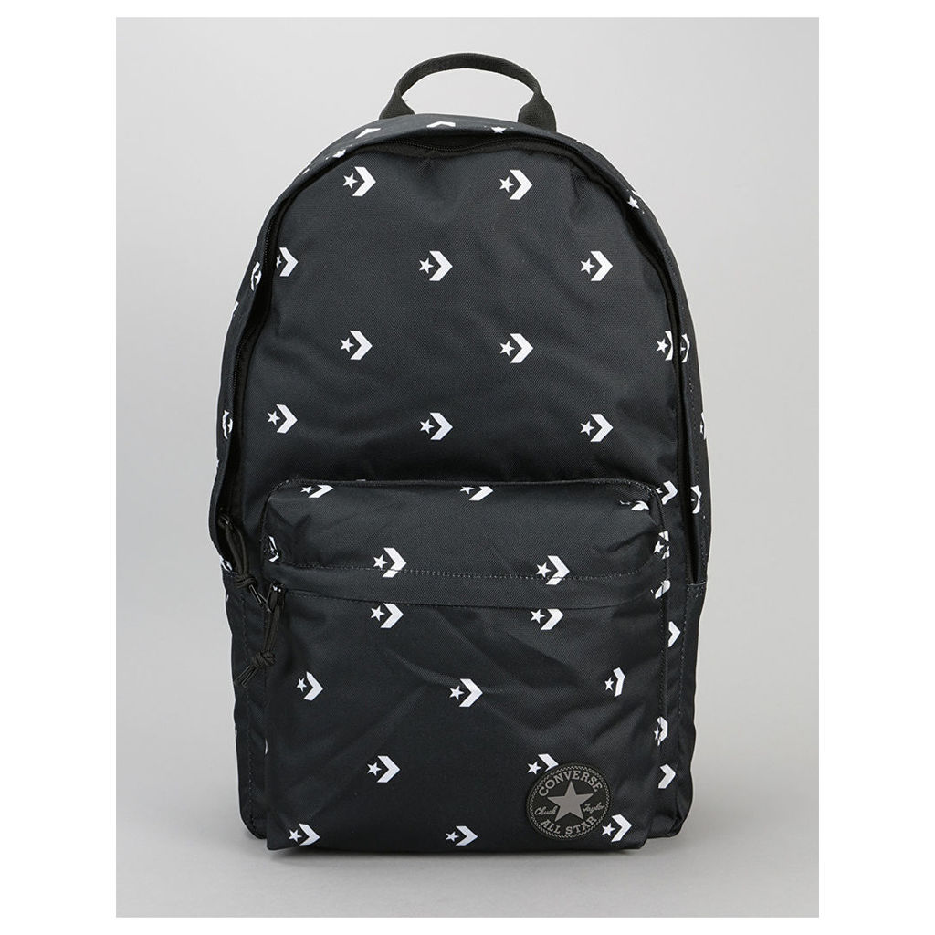Converse Core Poly Backpack - Star Chevron Repeat Black (One Size Only)