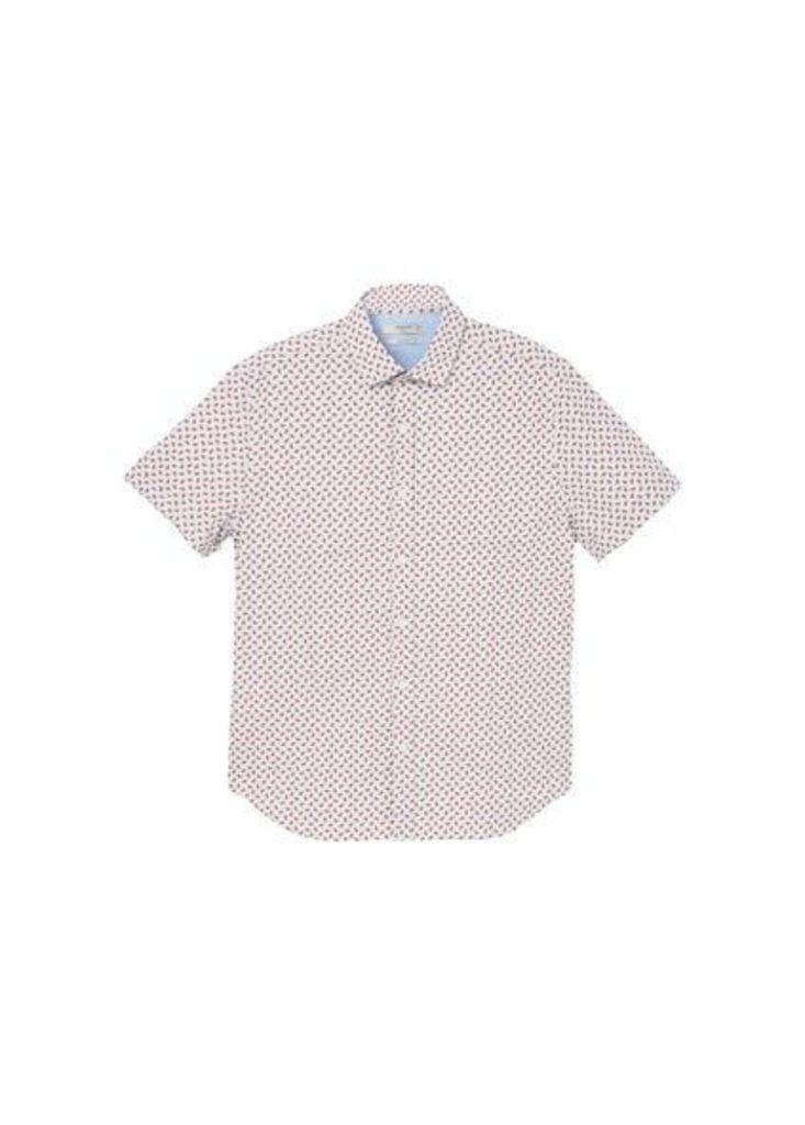 Slim-fit micro print shirt
