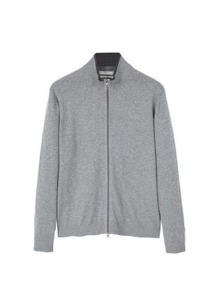 Cotton cashmere-blend cardigan