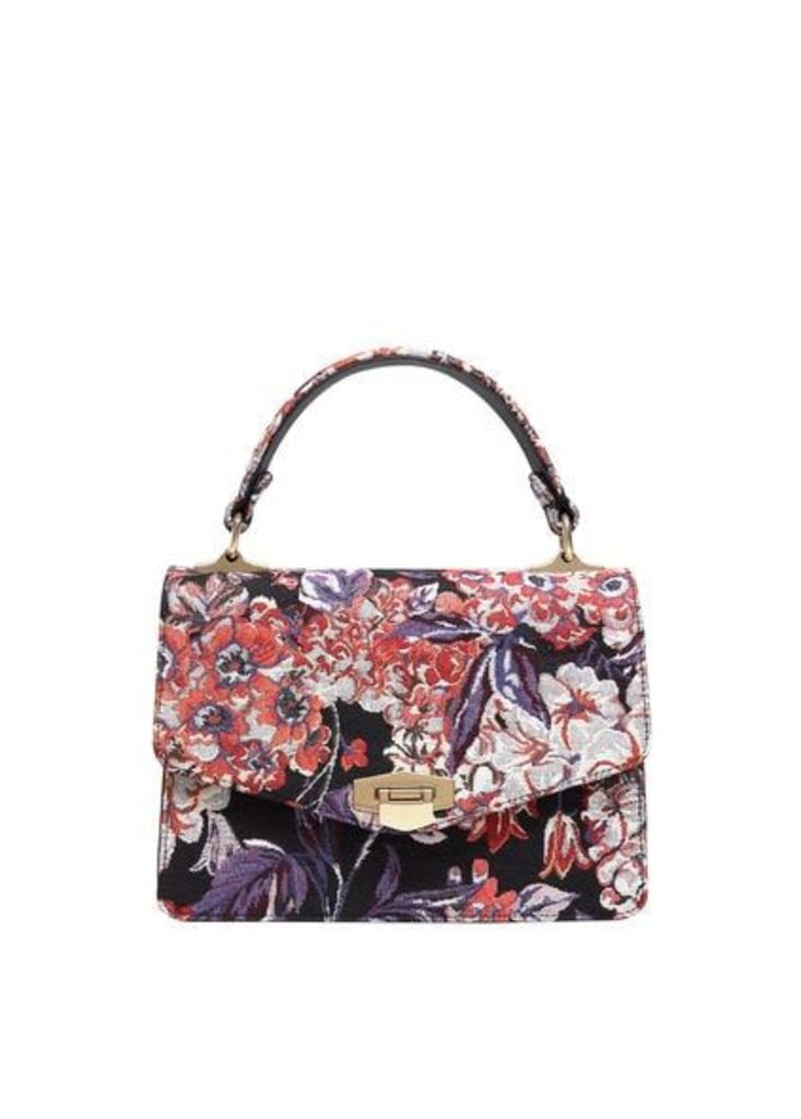 Buckle embroidered bag