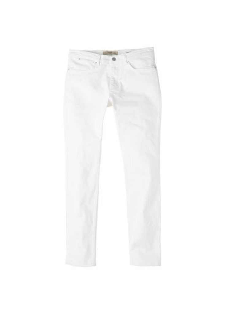 Slim-fit white Partrick Jeans