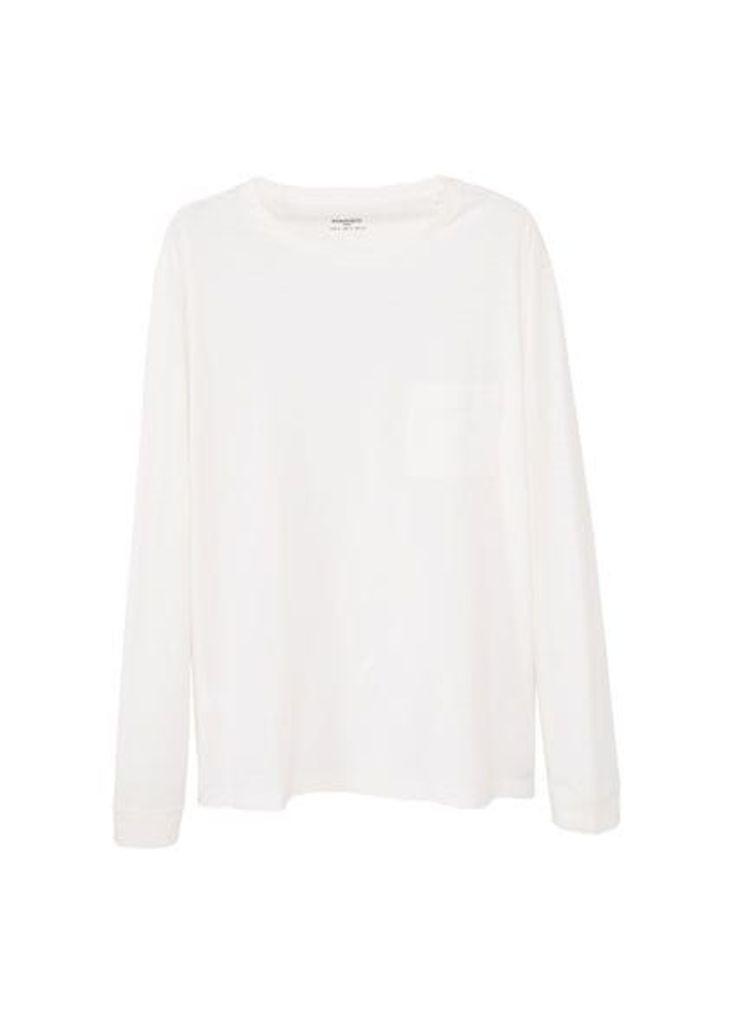 Slub-cotton t-shirt