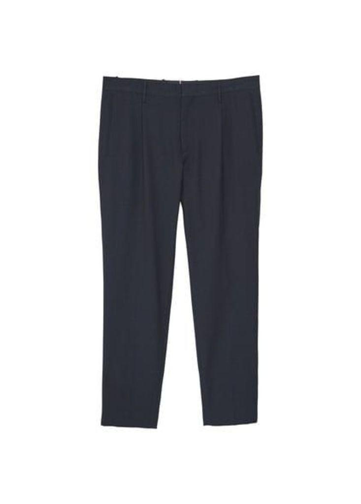 Trim crop trousers
