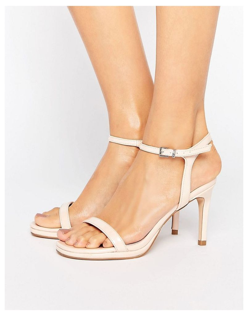 Faith Dolly Nude Heeled Sandals - Nude
