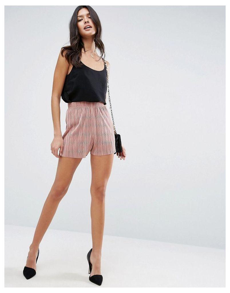 ASOS Pleated Plisse Shorts - Mink