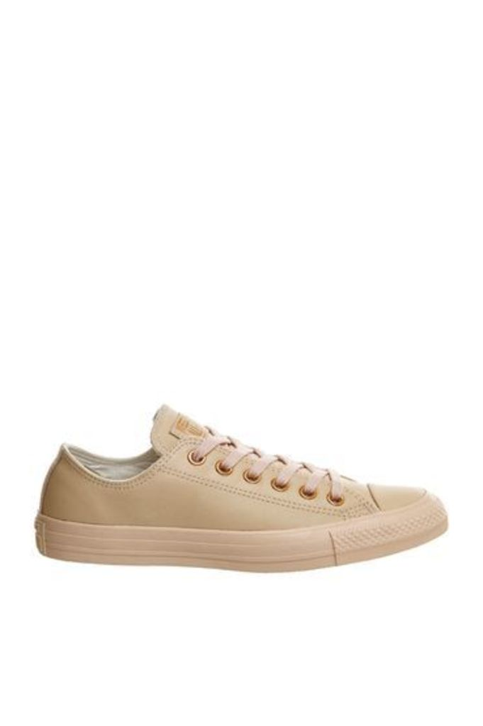 Womens **All Star Low Leather Trainers by Converse - Pink, Pink