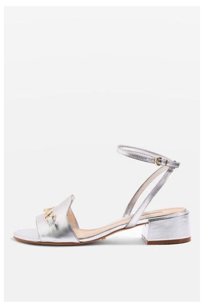 Womens FAIRY-TALE Two Part Sandals - Silver, Silver