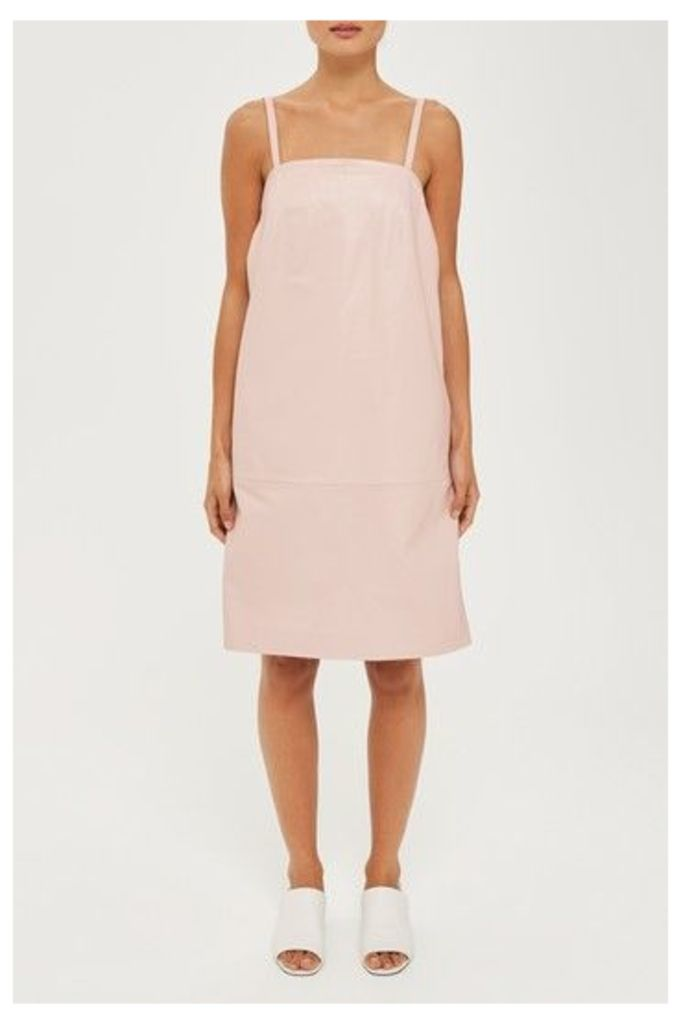 Womens Leather Slip Dress by Boutique - Pink, Pink