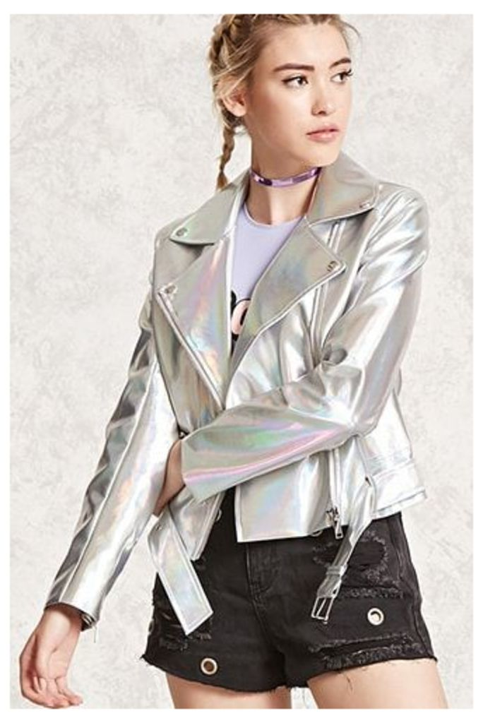 Iridescent Faux Leather Jacket