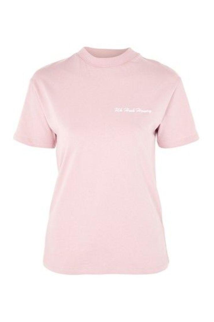 Womens Uh Huh Honey T-Shirt by Tee & Cake - Pink, Pink