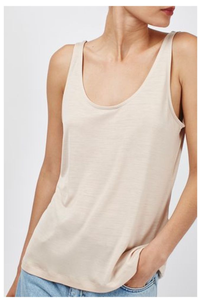Womens Slinky Vest by Boutique - Blush, Blush