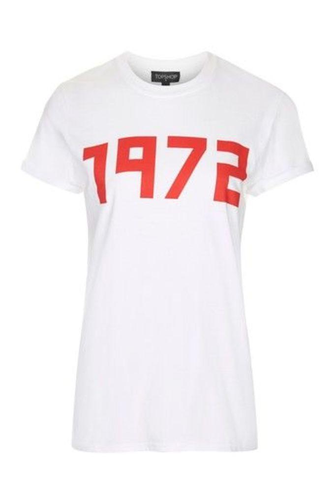 Womens TALL 1972 Slogan T-Shirt - White, White