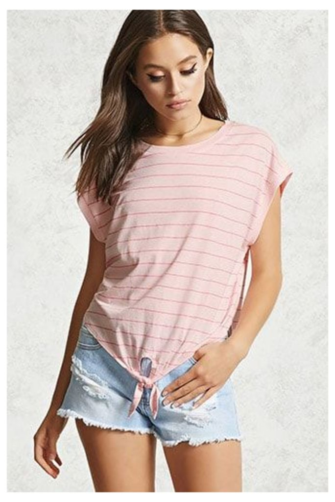 Striped Self-Tie Top