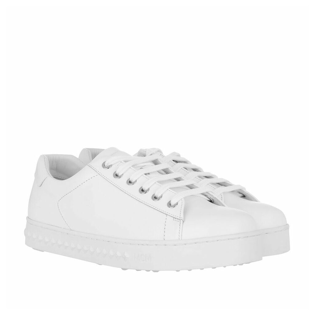 MCM Sneakers - Logo String Added Sneaker White - in white, silver - Sneakers for ladies