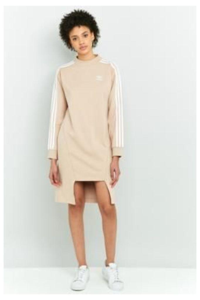 adidas Originals Notched Hem Sweatshirt Dress, PINK