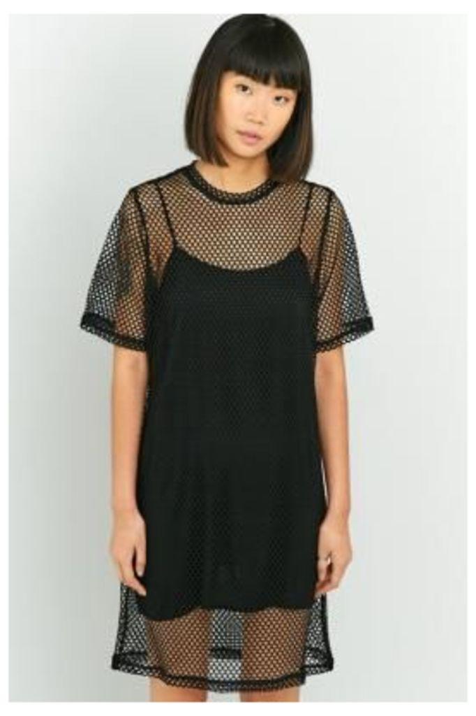 Cheap Monday Black Mesh Dress, BLACK