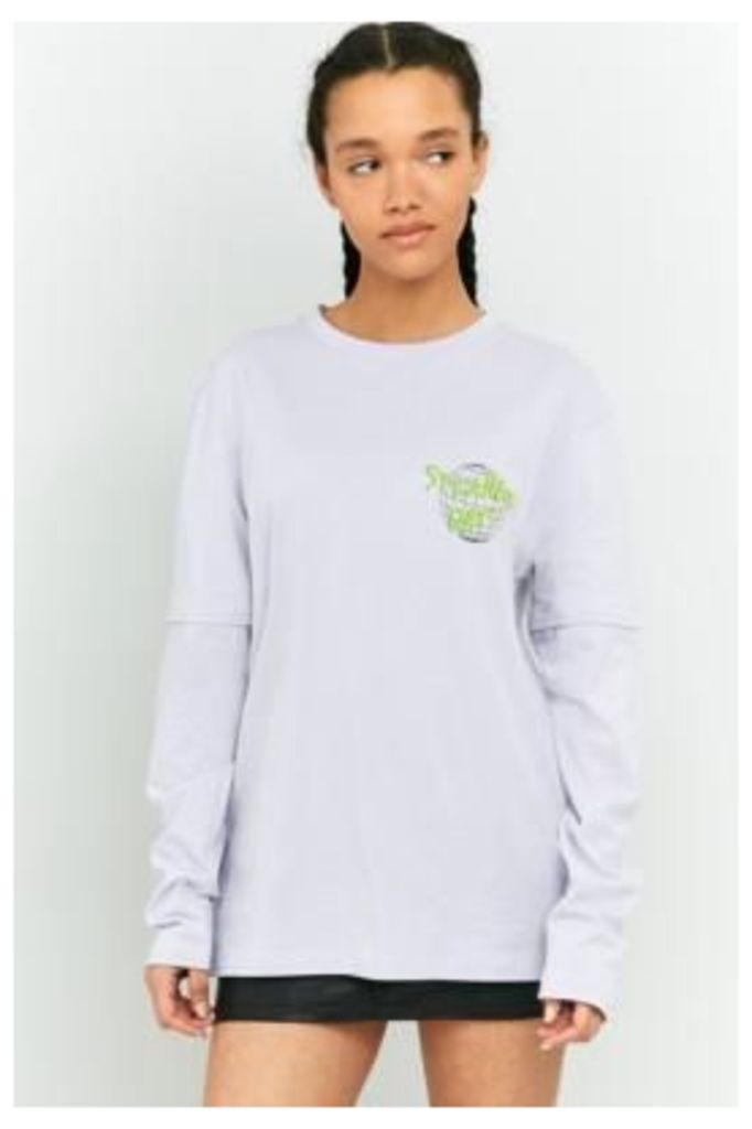 BDG Perspective Double Layer Long Sleeve T-Shirt, LILAC