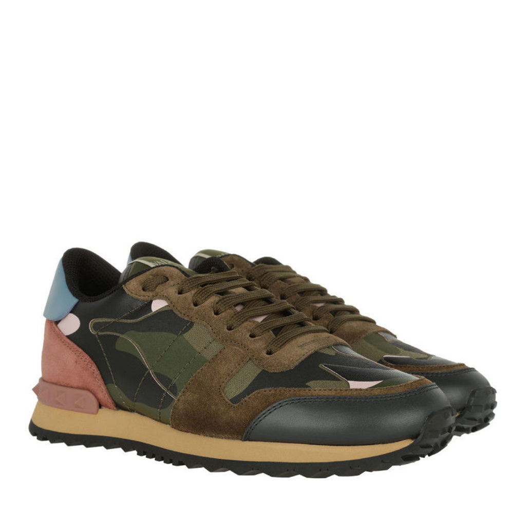 Valentino Sneakers - Camouflage Sneakers Army Green/Rose - in colorful - Sneakers for ladies