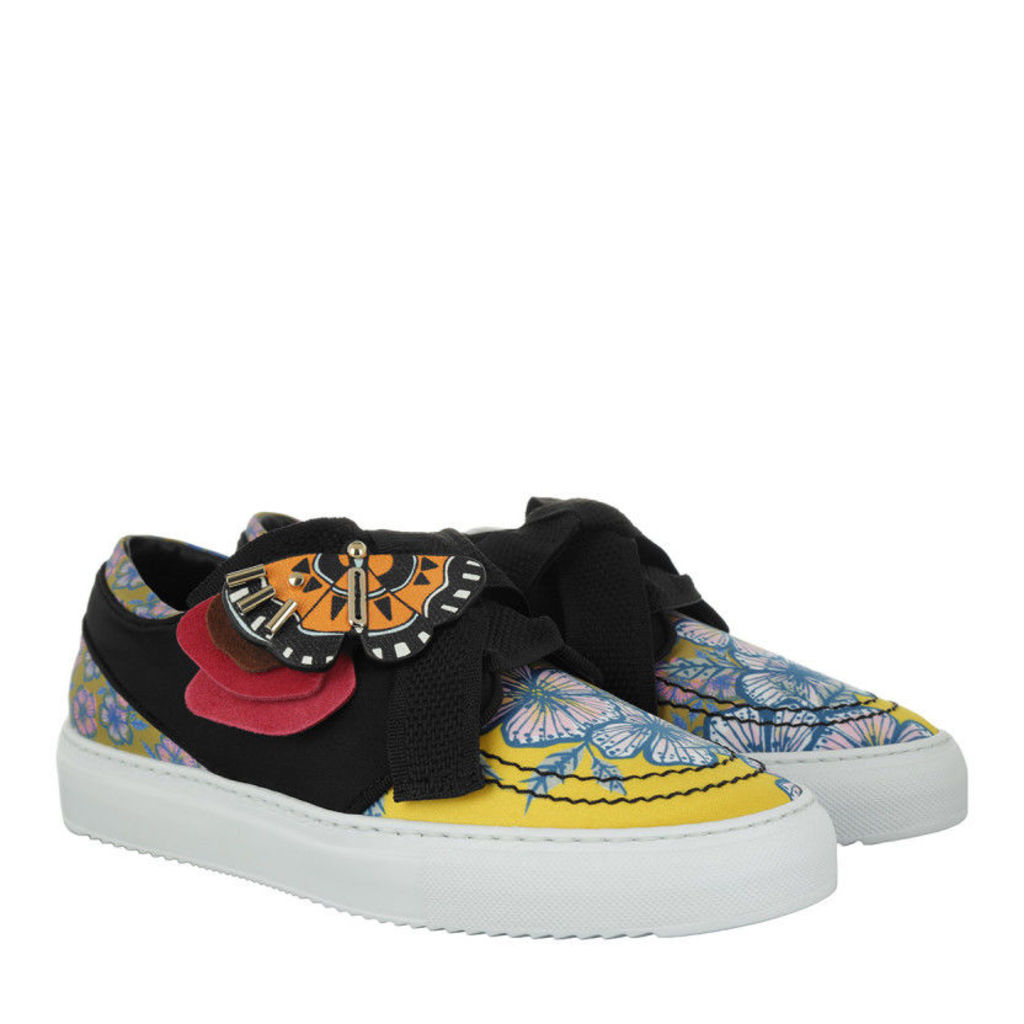 Furla Sneakers - Milano Lace-Up Leather Sneaker Multicolor - in yellow, black - Sneakers for ladies