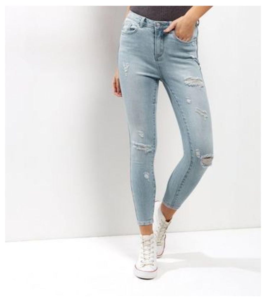 Pale Blue Ripped Skinny Jenna Jeans