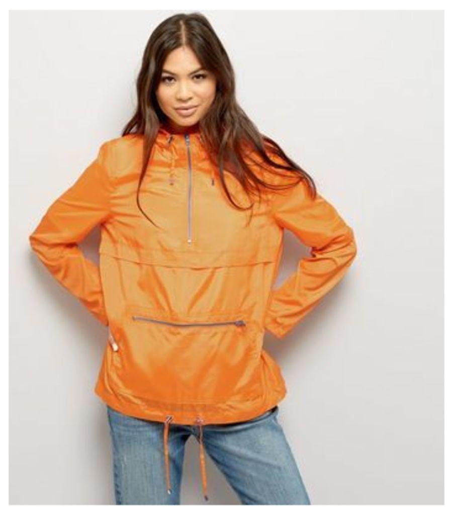 Bright Orange Pull-Over Fold Away Anorak