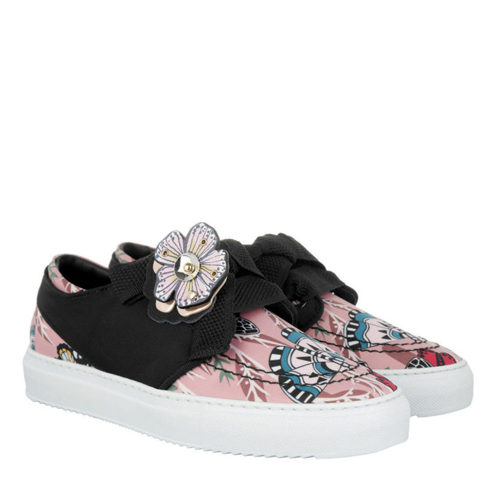 Furla Sneakers - Milano Lace-Up Leather Sneaker Multicolor - in rose, black - Sneakers for ladies