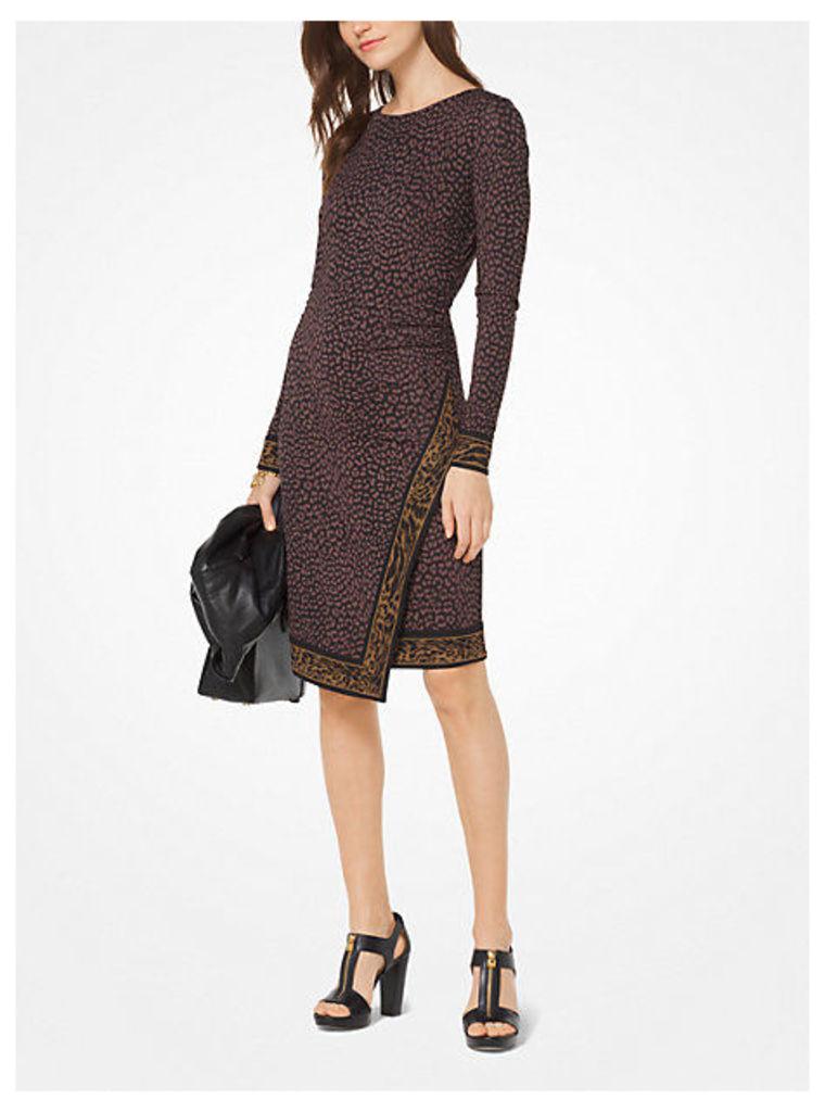 Leopard Matte-Jersey Wrap Dress