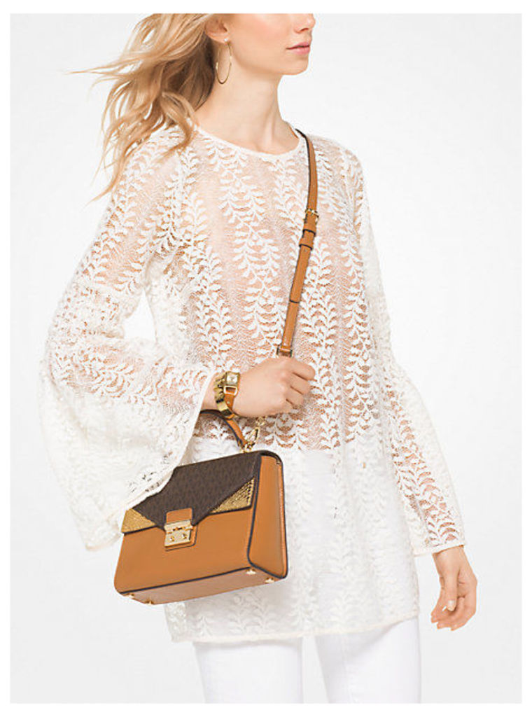 Bell-Sleeve Lace Tunic