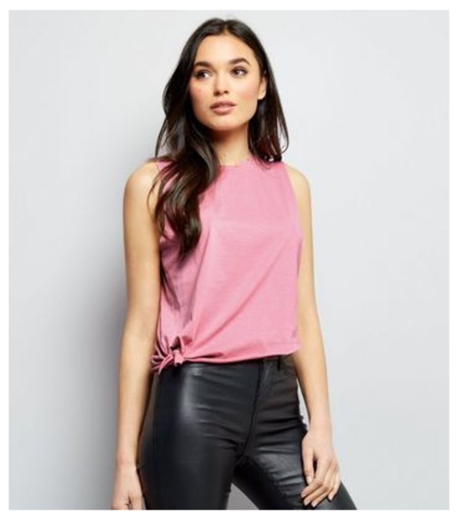 Pink Knot Front Tank Top