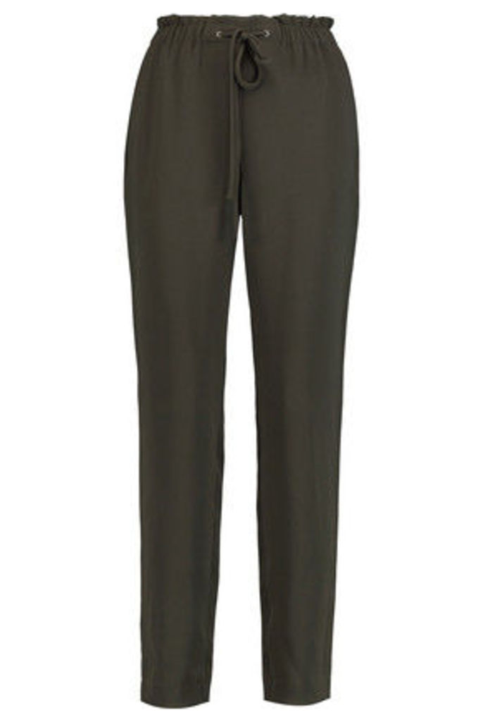 Theory - Army-green Crepe Pants - Army green