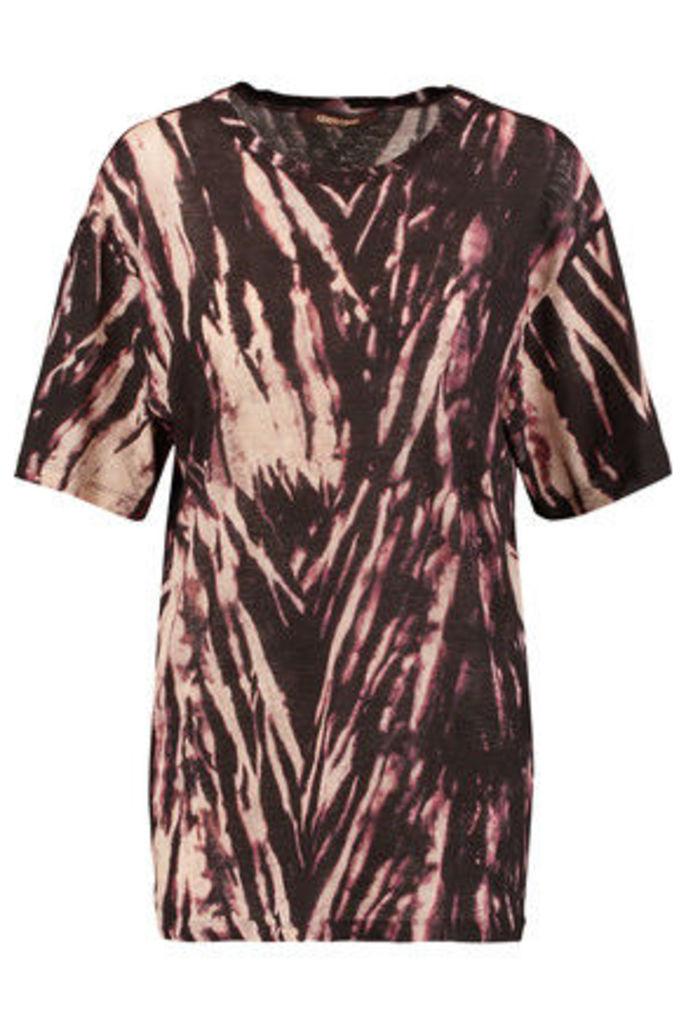 Roberto Cavalli - Tie-dye Cotton-jersey T-shirt - Black