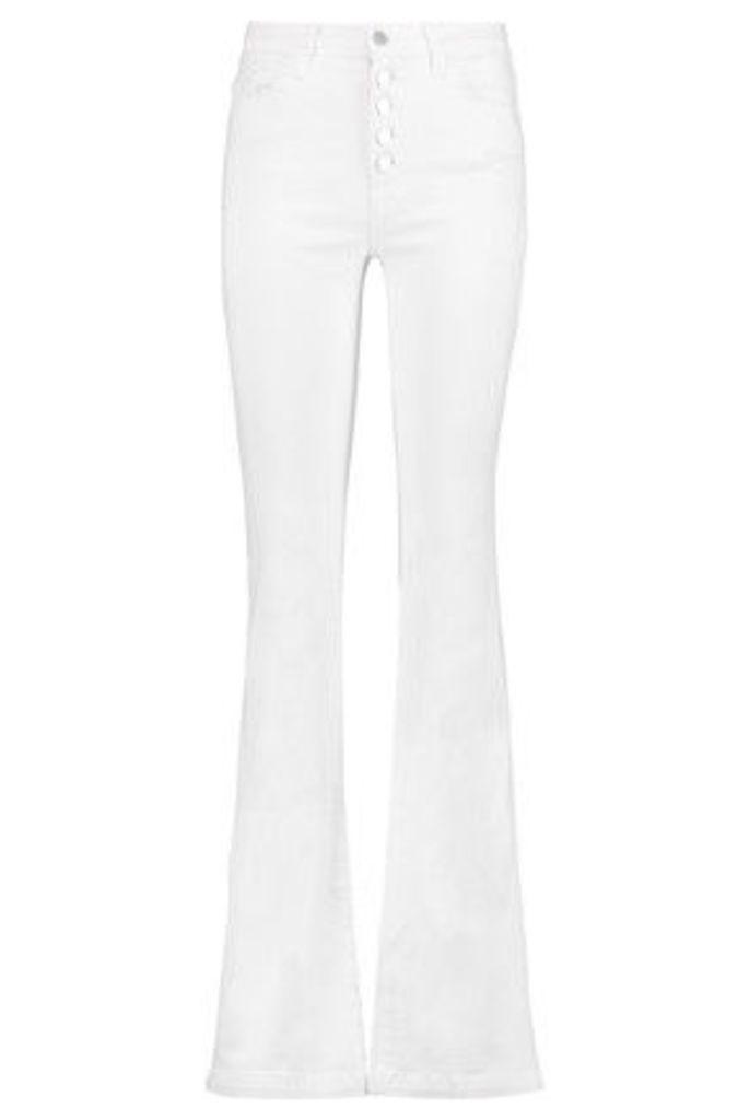 J Brand - Maria Mid-rise Flared Jeans - White