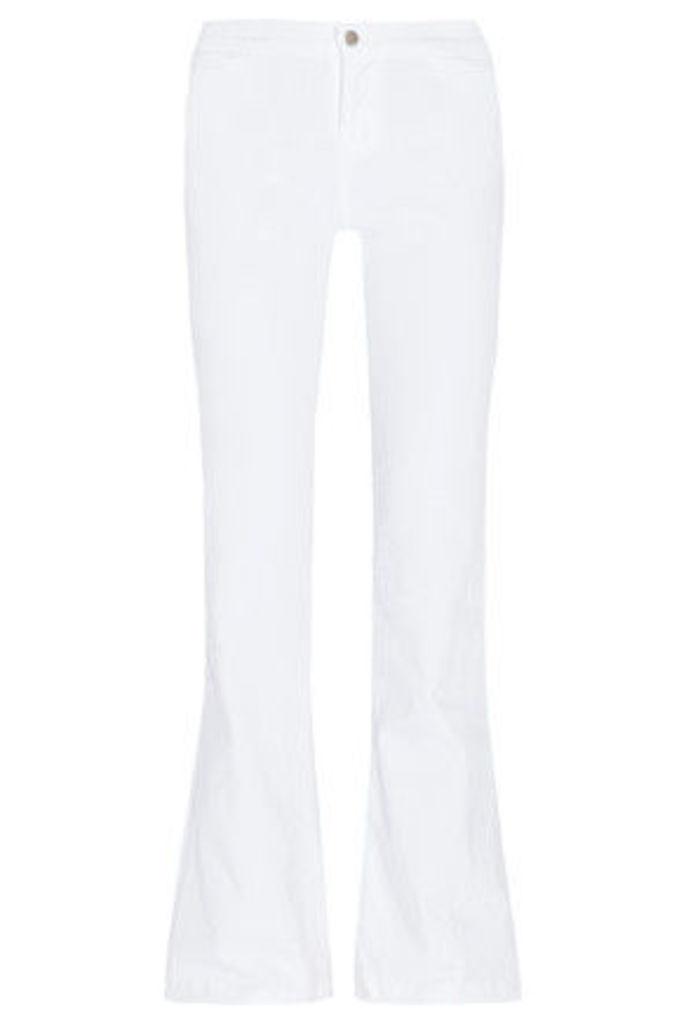 J Brand - High-rise Flared Jeans - White