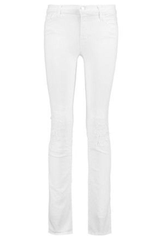 J Brand - Mid-rise Straight-leg Jeans - White