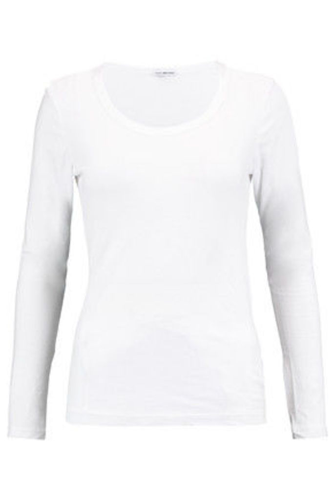 James Perse - Stretch Cotton-blend Top - White
