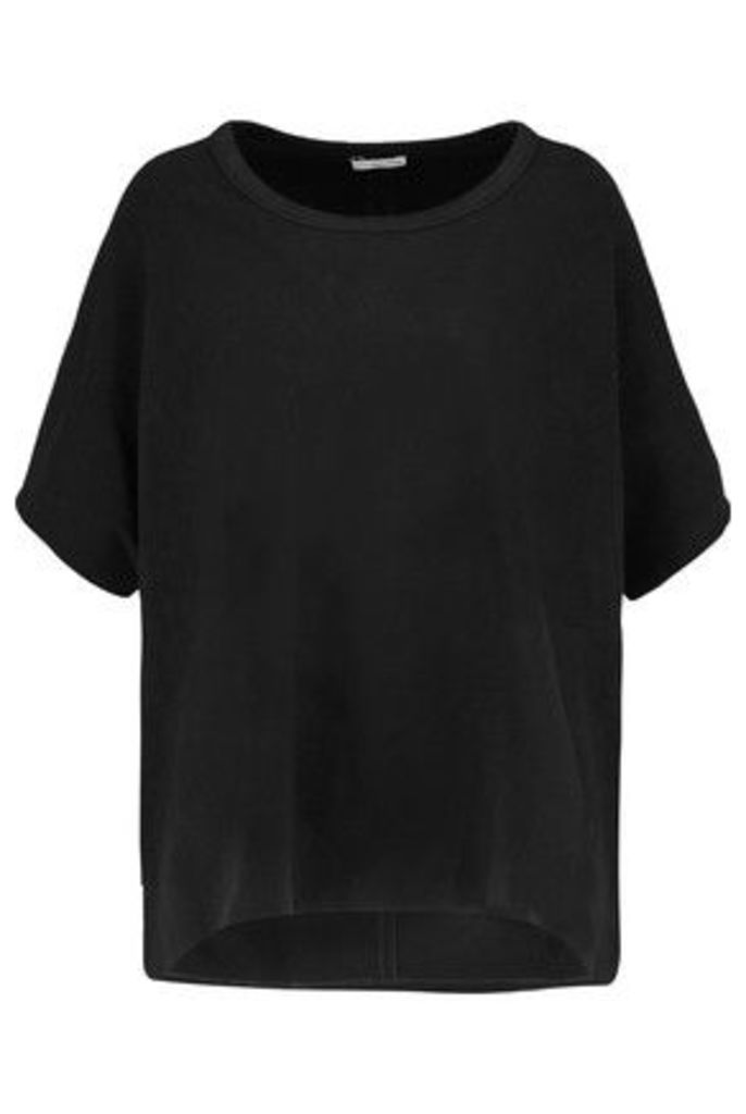 James Perse - Oversized Felt Top - Black