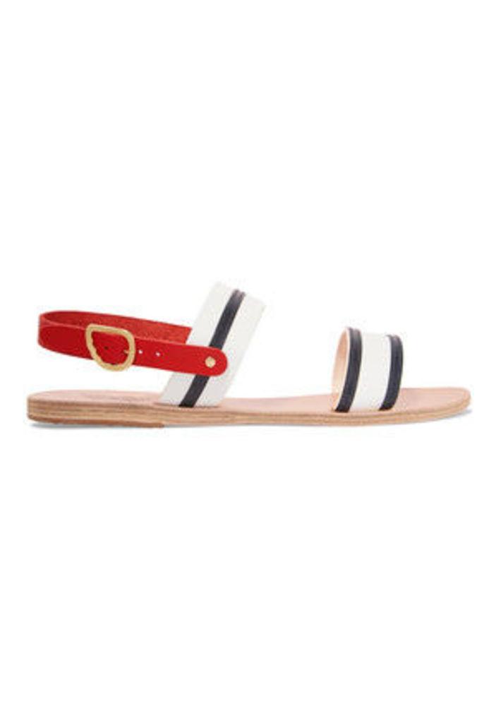 Ancient Greek Sandals - Dinami Leather Sandals - White