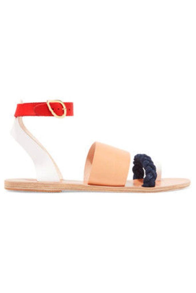 Ancient Greek Sandals - Agni Braided Suede Sandals - Beige