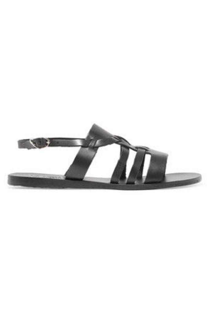 Ancient Greek Sandals - Kallikratis Leather Sandals - Black