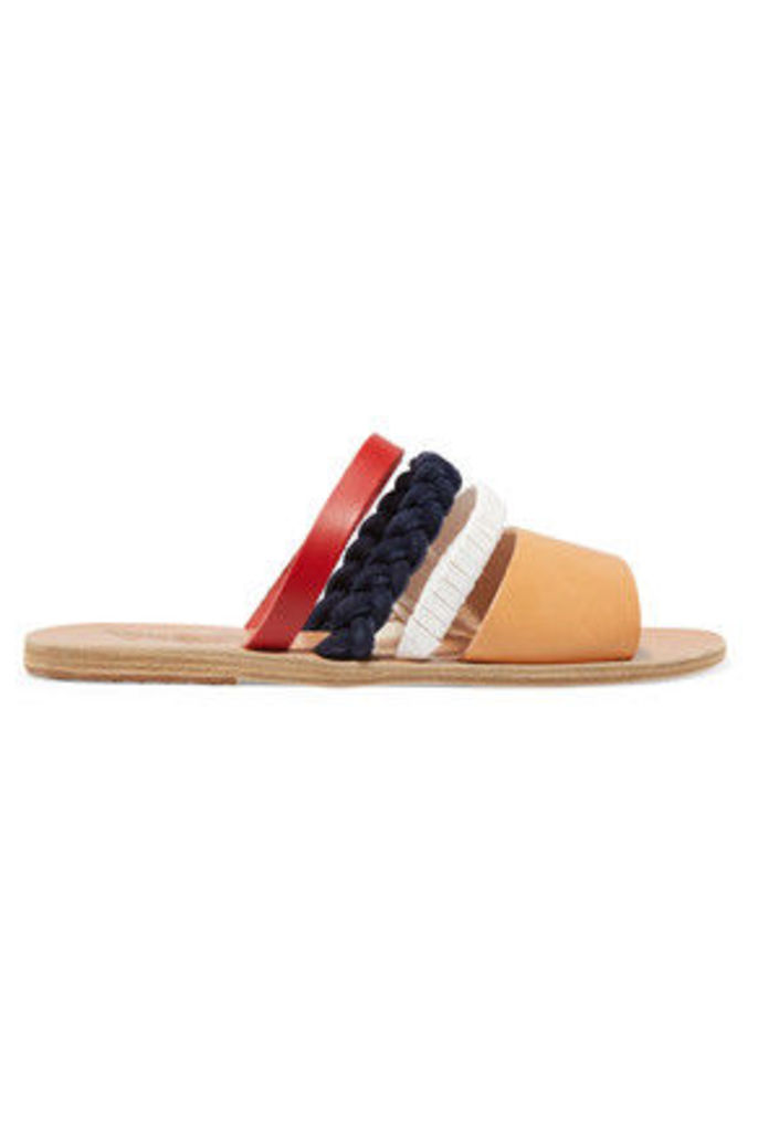 Ancient Greek Sandals - Helene Leather And Suede Sandals - IT39