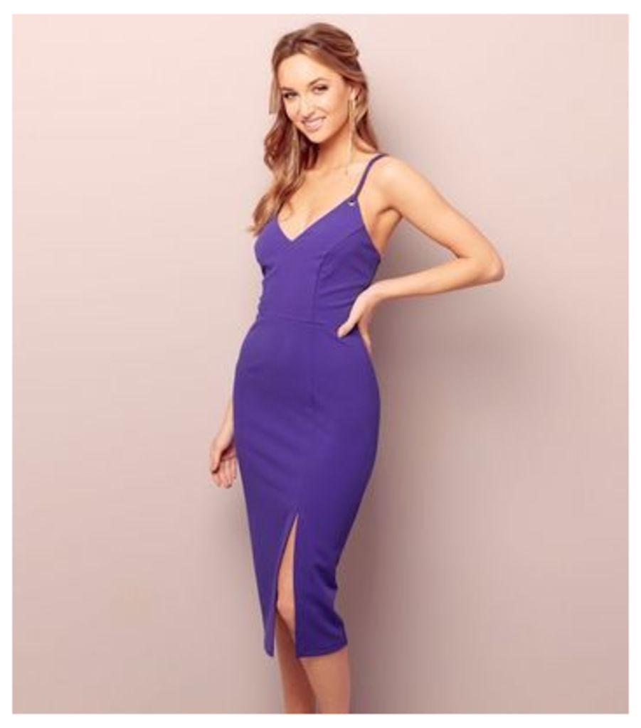 Purple Ring Strap Bodycon Dress