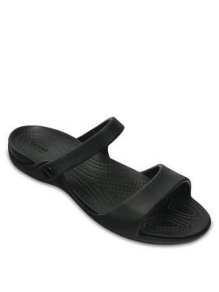 Crocs Cleo V Ankle Strap Sandals - Black