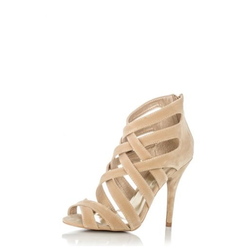 Beige Multi Strap Sandals