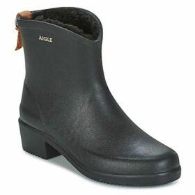 Aigle  MISS JULIETTE BOTTILLON FUR  women's Wellington Boots in Black