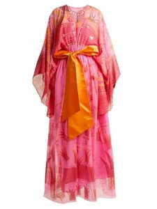 Zandra Rhodes - Summer Collection The 1973 Field Of Lilies Gown - Womens - Fuchsia
