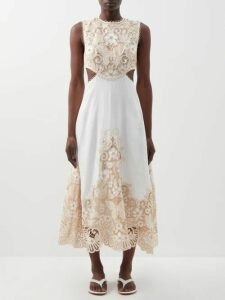 Zandra Rhodes - Summer Collection The 1973 Field Of Lilies Gown - Womens - Pink