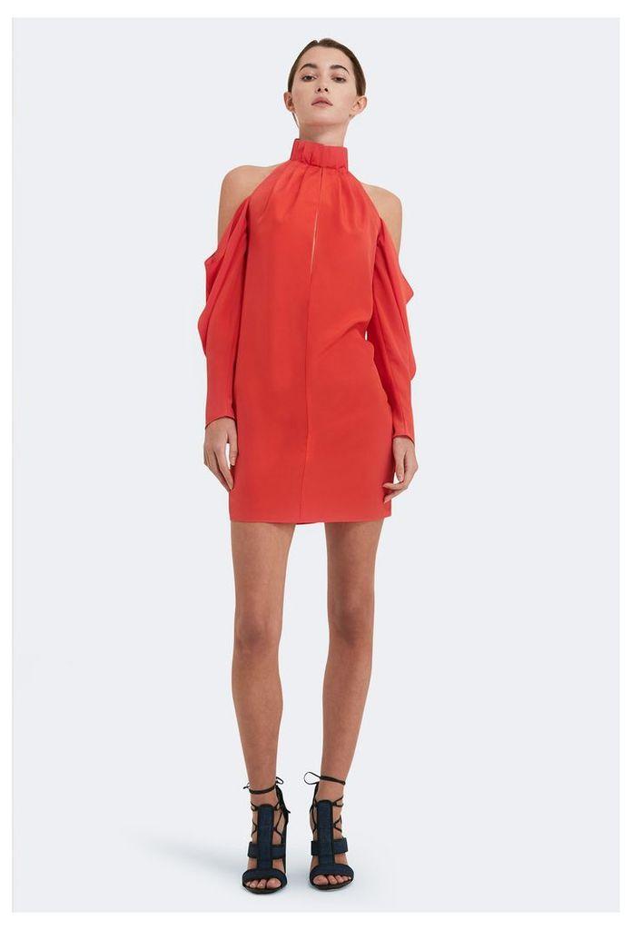 Pauline Cold Shoulder Mini Dress - Orange